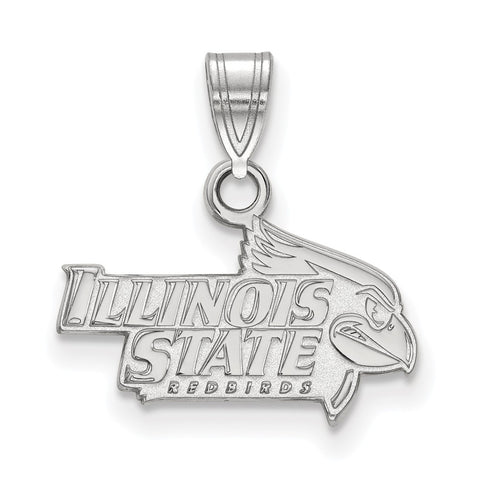 Sterling Silver LogoArt Illinois State University Small Pendant