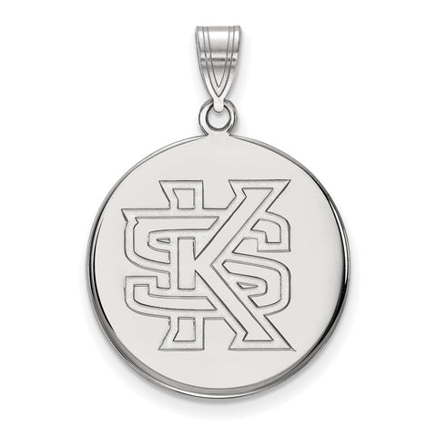 Sterling Silver LogoArt Kennesaw State Large Disc Pendant