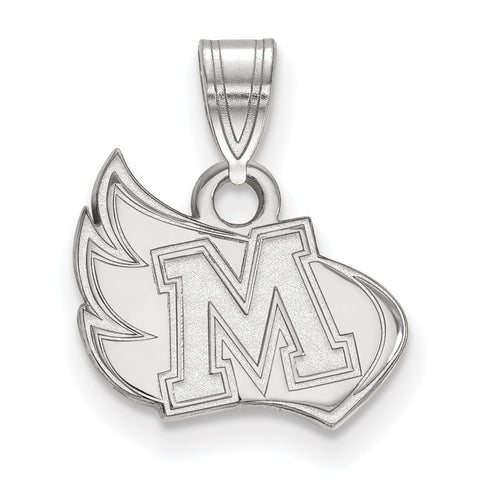 Sterling Silver LogoArt Meredith College Small Pendant