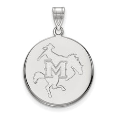 Sterling Silver LogoArt McNeese State University Large Disc Pendant