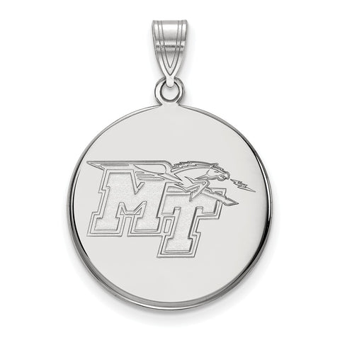 10kw LogoArt Middle Tennessee State University Large Disc Pendant