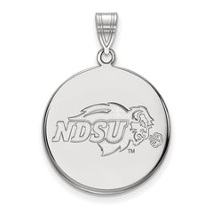 Sterling Silver LogoArt North Dakota State Large Disc Pendant