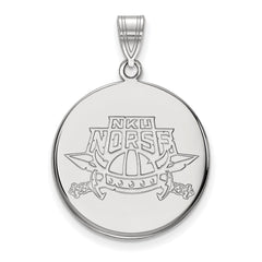 Sterling Silver LogoArt Northern Kentucky University Large Disc Pendant