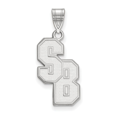 Sterling Silver LogoArt Stony Brook University Large Pendant