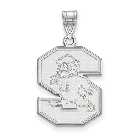 Sterling Silver LogoArt South Carolina State University Large Pendant