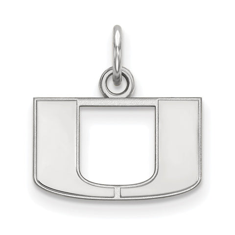 Sterling Silver LogoArt University of Miami XS Pendant