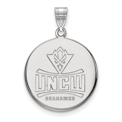 14kw LogoArt North Carolina Wilmington University of Large Disc Pendant