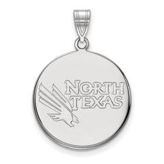 14kw LogoArt University of North Texas Large Disc Pendant