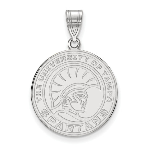 Sterling Silver LogoArt University of Tampa Medium Pendant