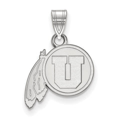 Sterling Silver LogoArt University of Utah Small Pendant