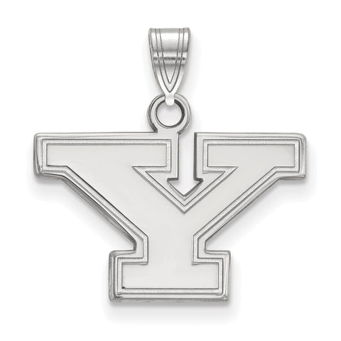 14k White Gold Logoart Youngstown State University Penguins Small Pendant