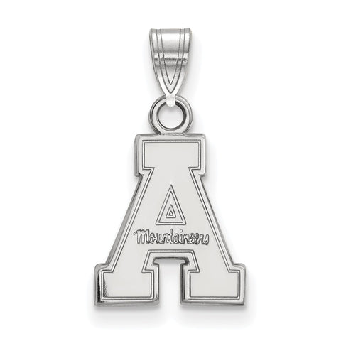 Sterling Silver LogoArt Appalachian State University Small Pendant