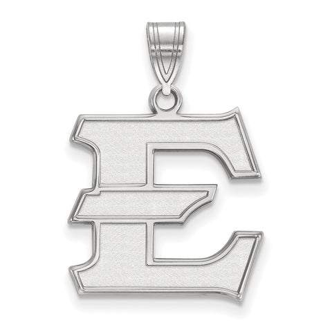 Sterling Silver LogoArt East Tennessee State Large Pendant