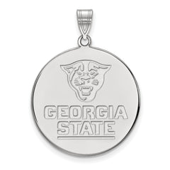 Sterling Silver LogoArt Georgia State University XL Disc Pendant