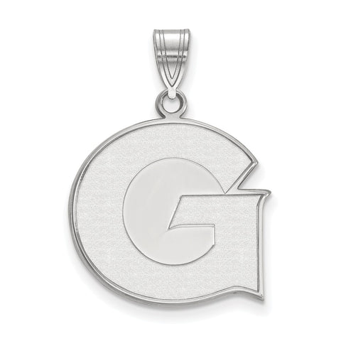 Sterling Silver LogoArt Georgetown University Large Pendant
