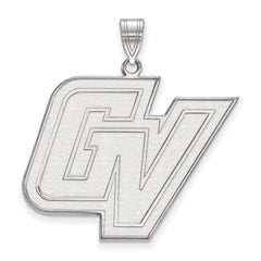 Sterling Silver LogoArt Grand Valley State XL Pendant