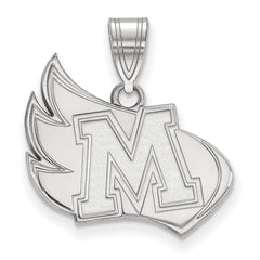 Sterling Silver LogoArt Meredith College Large Pendant