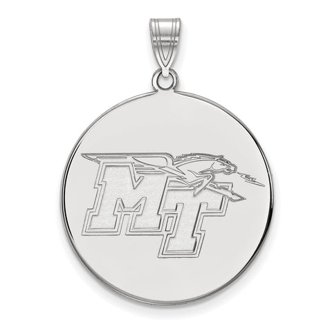 14kw LogoArt Middle Tennessee State University XL Disc Pendant