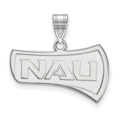 Sterling Silver LogoArt Northern Arizona University Medium Pendant