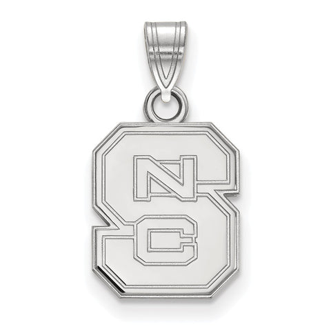 14kw LogoArt North Carolina State University Small Pendant