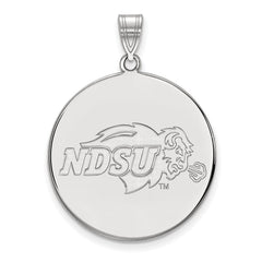 Sterling Silver LogoArt North Dakota State XL Disc Pendant