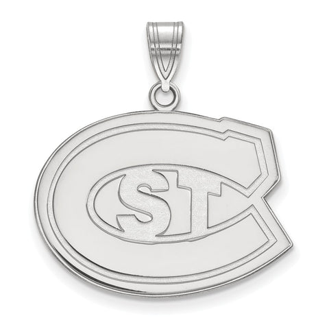 Sterling Silver LogoArt St. Cloud State Large Pendant