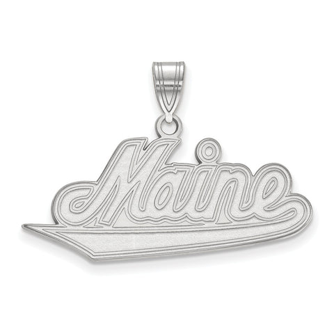 Sterling Silver LogoArt University of Maine Large Pendant