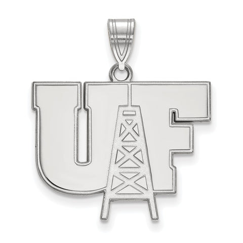 Sterling Silver LogoArt University of Findlay Large Pendant