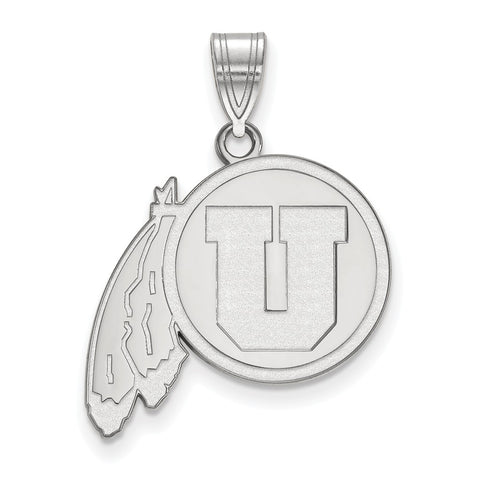 Sterling Silver LogoArt University of Utah Large Pendant