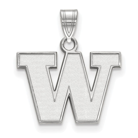 Sterling Silver LogoArt University of Washington Small Pendant