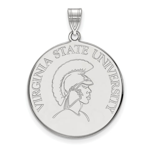 Sterling Silver LogoArt Virginia State University XL Disc Pendant