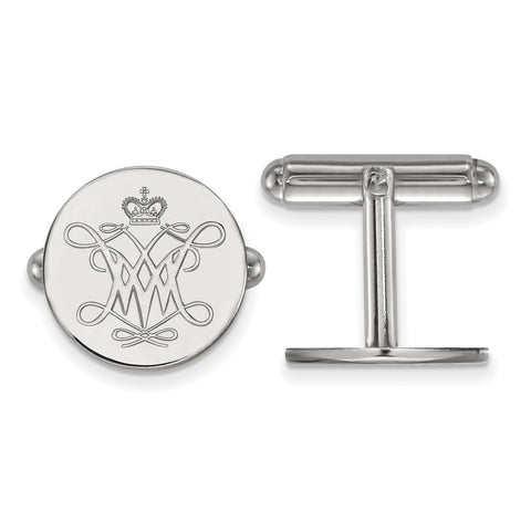 Sterling Silver LogoArt William And Mary Cuff Link
