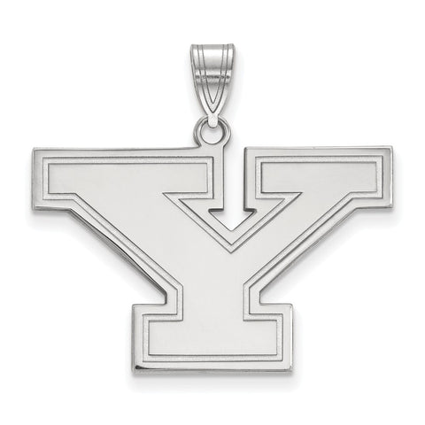 Sterling Silver LogoArt Youngstown State University Large Pendant