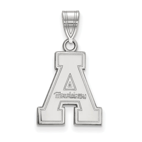 Sterling Silver LogoArt Appalachian State University Medium Pendant