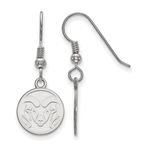 Sterling Silver LogoArt Colorado State University Small Dangle Earrings