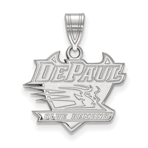 14kw LogoArt DePaul University Medium Pendant