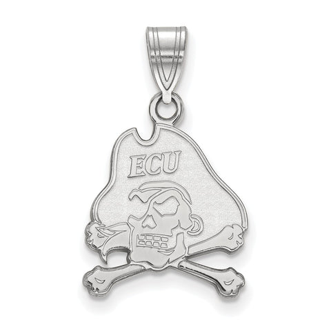 Sterling Silver LogoArt East Carolina University Medium Pendant