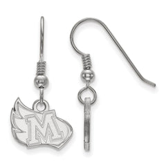 Sterling Silver LogoArt Meredith College Small Dangle Earrings