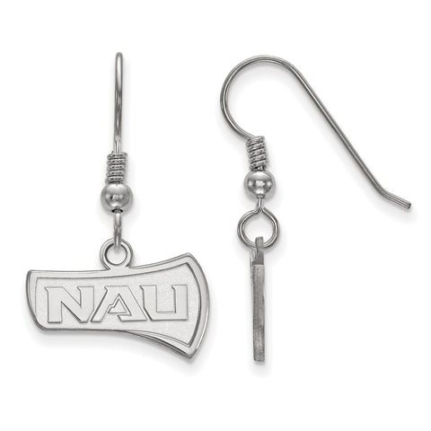 Sterling Silver LogoArt Northern Arizona University Small Dangle Earrings