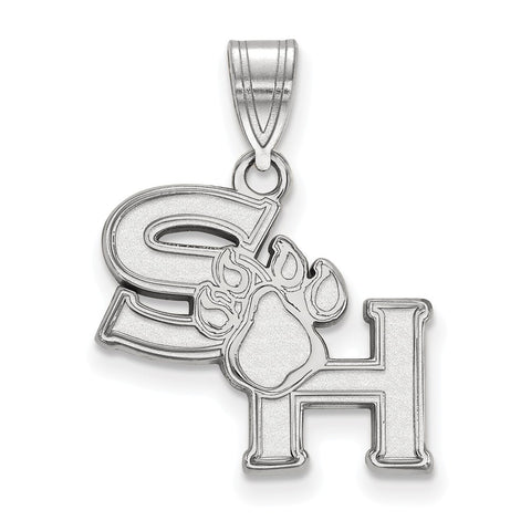 Sterling Silver LogoArt Sam Houston State University Medium Pendant