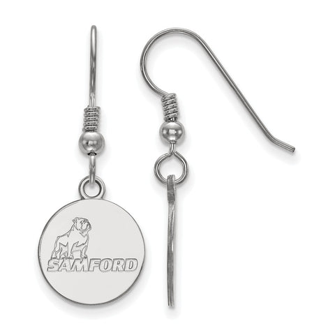 Sterling Silver LogoArt Samford University Small Dangle Earrings