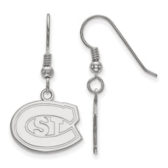 Sterling Silver LogoArt St. Cloud State Small Dangle Earrings