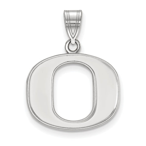 Sterling Silver LogoArt University of Oregon Medium Pendant