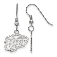 Sterling Silver LogoArt The University of Texas at El Paso Small Dangle Ear