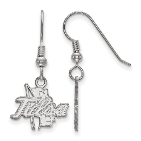 Sterling Silver LogoArt The University of Tulsa Small Dangle Earrings