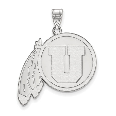 Sterling Silver LogoArt University of Utah XL Pendant
