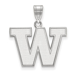 Sterling Silver LogoArt University of Washington Medium Pendant