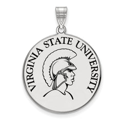 Sterling Silver LogoArt Virginia State University XL Enamel Disc Pendant