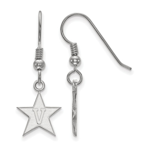 Sterling Silver LogoArt Vanderbilt University Small Dangle Earrings