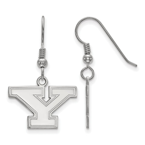 Sterling Silver LogoArt Youngstown State University Small Dangle Earrings